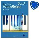 Tastenreisen Band 1-18 Klavierstücke von Daniel Hellbach (für Schülerinnen und Schüler bereits im ersten Unterrichtsjahr) - mit bunter herzförmiger Notenklammer