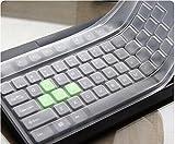 Annedenn Wasserdichte Silikon Universal PC Desktop Tastatur Skin Protector Cover -Weiß