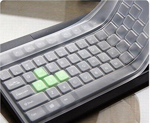 Annedenn, copertura protettiva universale per tastiera del PC, in silicone impermeabile, di colore bianco