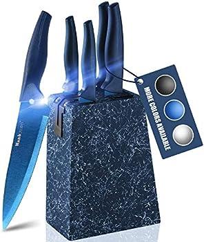 Wanbasion Marbling Blue Kitchen Knife Set