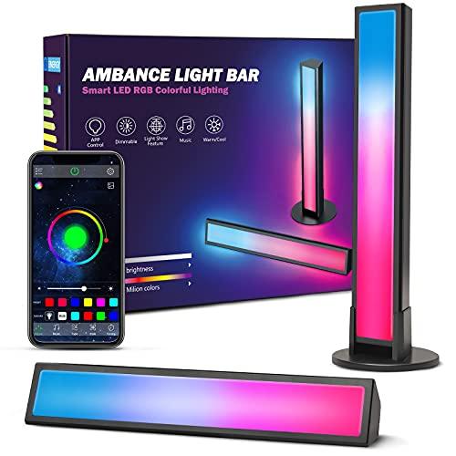 Ezanaki Smart Luces LED, Lámpara RGB Inteligente con 8 Modos de Música, Retroiluminación LED de TV, Sincronización de Lámpara de Juegos con Música y Control de APP, LED Lámpara para PC, TV, Dormitorio