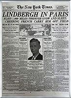 ポスター ピーター リンドバーグ VISIONAIRE(ヴィジョネアー)チャールズ・リンドバーグ NYタイムズ1927年5月22日 額装品 アルミ製ベーシックフレーム(シルバー)