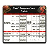 foxany Meat Temperature Guide Magnet, Wood Best Internal Temp Chart Big Fonts, Chart of All Food for Kitchen Cooking, Flavor Profiles & Strengths for Smoker Box, BBQ Accessories Gift Idea for Men Dad