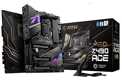 MSI MEG Z490 ACE Gaming Motherboard (ATX, 10th Gen Intel Core, LGA 1200 Socket, SLI/CF, Triple M.2 Slots, USB 3.2 Gen 2, Wi-Fi 6, Mystic Light RGB)