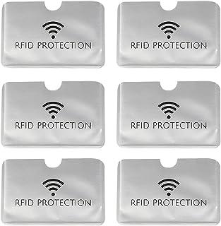 مسدود کردن RFID کارت شناسایی اعتباری ایمن ضد سرقت آستین محافظ WaterProof محافظ آستین هوشمند باریک کاملا متناسب با کیف پول / کیف پول (خاکستری افقی ، 6 تایی)