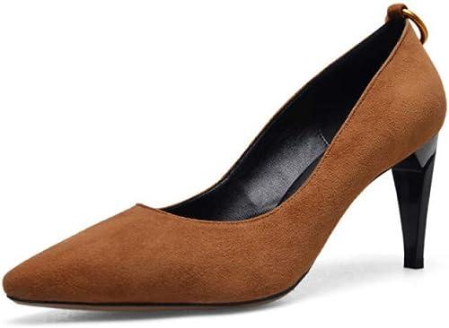 VIVIOO Chaussures de Talons Hauts Femme Daim Daim Daim Cuir Parti Chaussures de Mariage Robe d'été Peu Profonde Chaussures Femme cc2