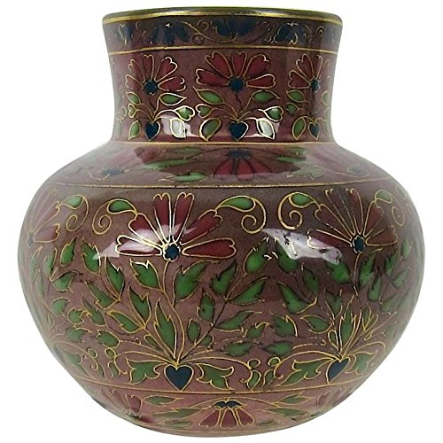 Zsolnay Antique Pecs Cloisonne Style Cabinet Vase, Circa 1878