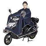 FakeFace Home Cape de Pluie Manteaux Imperméable à Grande Capuche Moto/Vélo Poncho/Veste de Pluie...