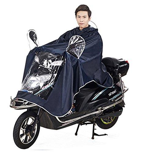FakeFace Home Cape de Pluie Manteaux Imperméable à Grande Capuche Moto/Vélo Poncho/Veste de Pluie Raincoat Cape Bonne Qualité Rainwear Outdoor Waterproof Unisexe pour Homme Femme-Bleu Fondé