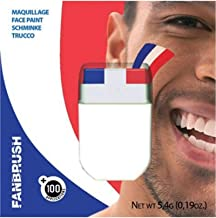 Fanbrush France Flag Face Paint, Multi Color