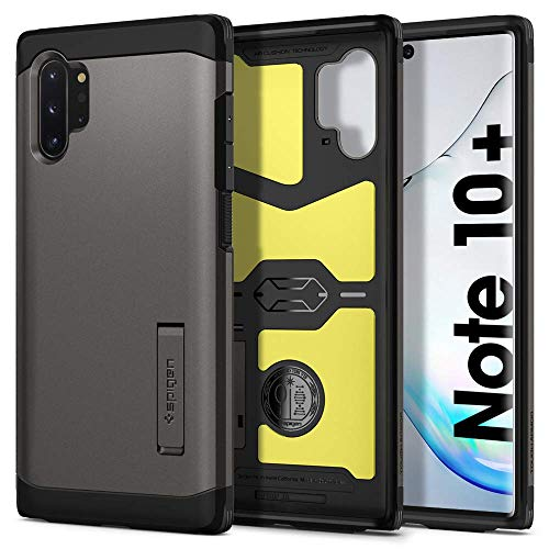 Spigen [Tough Armor] Galaxy Note 10+ Plus Case Cover with Shockproof Air Cushion and Kickstand Compatible with Samsung Note 10 Plus (2019) - Gunmetal