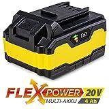 TROTEC Zusatz-Akku Flexpower 20V 4,0 Ah Ersatzakku Akkuwerkzeug