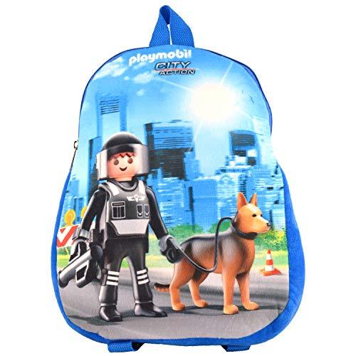 Playmobil City Action – Rucksack Polizei Tasche Kinder mit Polizei Motiv