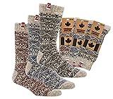 TippTexx 24 1 Paar Unisex Canadian Socks, THERMO-Wollsocken mit zusätzlicher Garantie, 80prozent Schafwolle (Rot, 43/46)