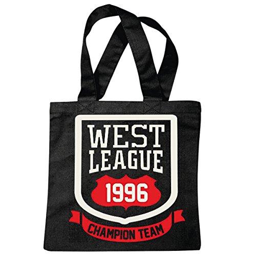Tasche Umhängetasche West League 1996 Champion Team Football Baseball FUßBALL American Football Team Bundesliga College Football Mannschaft Baseball Shirt Football Mannschaft Einkaufstasche Schulbe