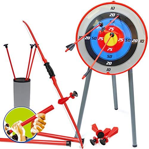 YRE Kinder-Sicherheitsbogen und Pfeil Darts Eltern-Kind-Saugnapf Schießspielzeug. Outdoor-Sportgeräte Simulation Bogenschießen und Pfeilset