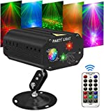 Music Lights for Parties,RGB LED Strobe Lights + RED & GREEN Party Projector Disco Lights SUPERNAL Voice Control Music Rhythm DJ Lights for Bar KTV Pub Karaoke Disco Holiday Birthday Home Decor Gifts