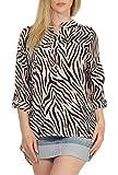 Malito Mujer Blusa con Animal-Print 3/4 Túnica Parte Superior Top 6705 (Rosa)