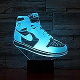 Michael Jordan 11 baskets veilleuse LED 3d Illusion RGB lumières décoratives enfant...