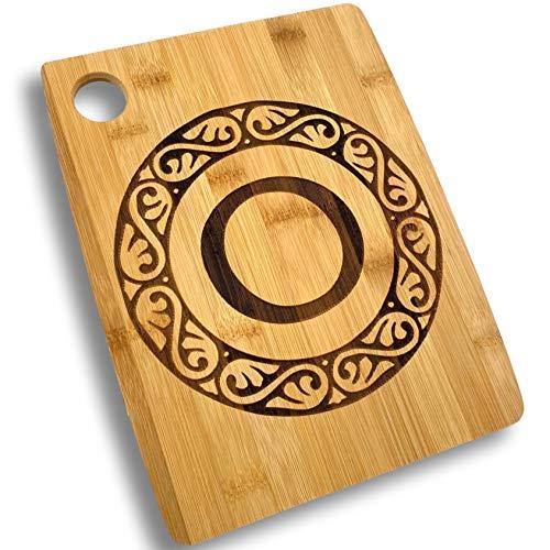 Custom Catch Personalized Cutting Board - Custom Bamboo Gift - Letter O