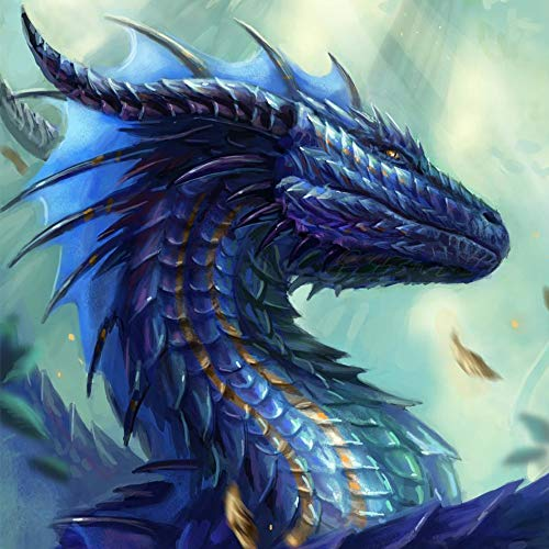 5D Diamond Painting Kits for Adults Full Drill 12x12 inch Crystal Rhinestone Cross Stitch Embroidery Diamond Painting Dragon Arts Craft for Living Room Home Wall Decor Gift