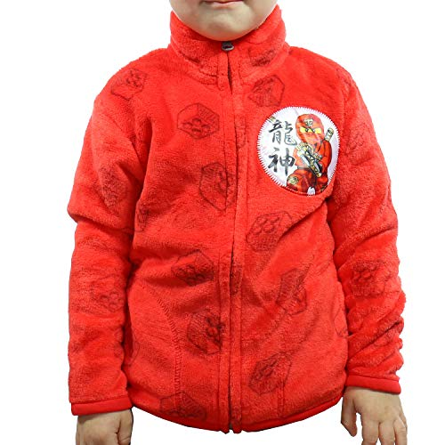 Fleecejacke mit Reißverschluss und Seitentaschen für Kinder, große Auswahl für Jungen und Mädchen TVM Europe (Rot, 122-128)