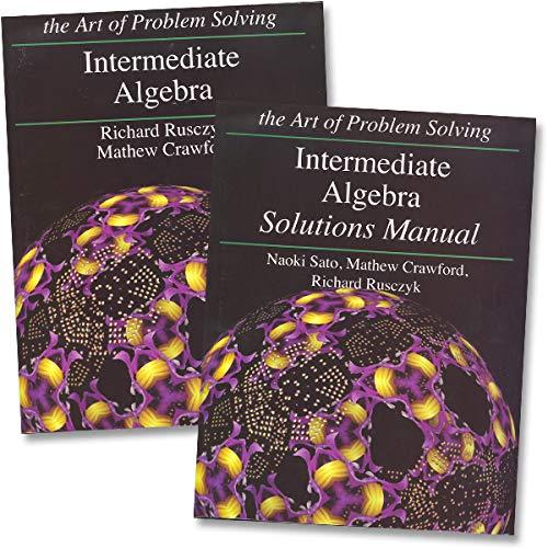 Art of Problem Solving: Intermediate Algebra Books Set (2 Books) - Intermediate Algebra Text,...