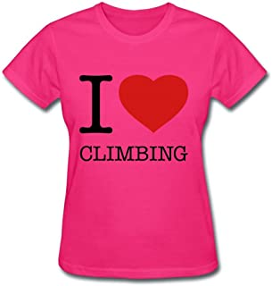 I Love Climbing Custom Design Women Cotton T-shirt Tee