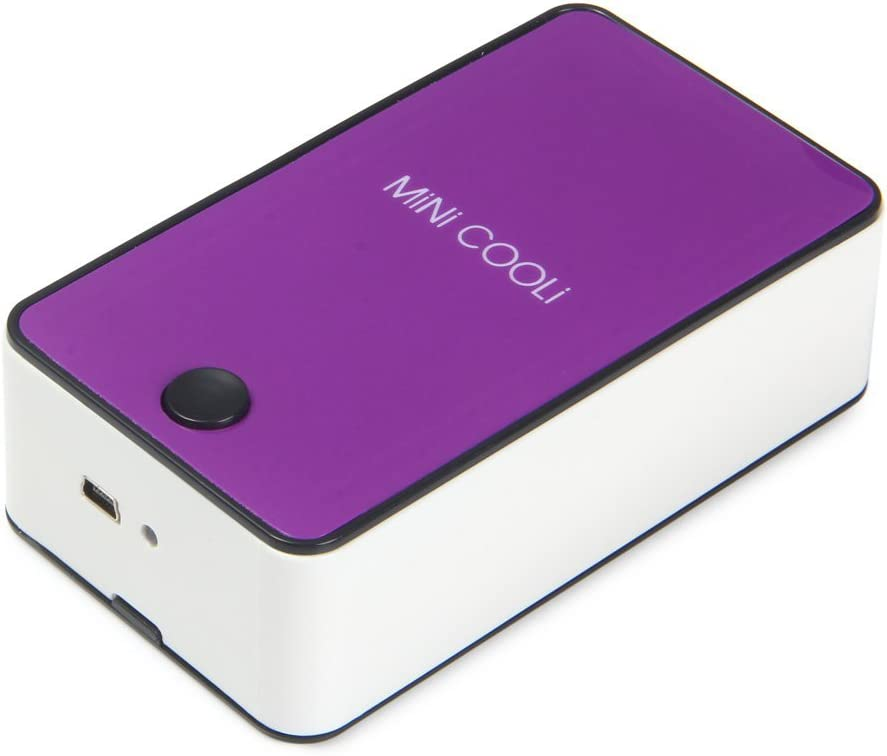 Wooboo Mini Cooli 5th generation Mini Portable USB Rechargeable HandHeld Air Conditioner Summer Cooler Fan,Batteries Powered No Leaf Fan (Purple)