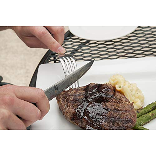 "Shun Classic 4-Piece Steak Knife Set; Enhance Steak Dinners with Elegant, Razor-Sharp Blades; Handcrafted of VG-MAX and Damascus Steel; Striking PakkaWood Handles; Four Steak Knives with 4.75"" Blades"