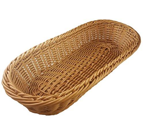 KOVOT Poly-Wicker Bread Basket - 14.5' Woven Polypropylene (1)
