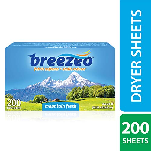 Breezeo Fabric Softener Dryer Sheets