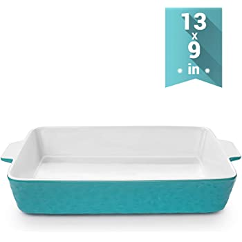 Baking Dishes, Krokori Rectangular Bakeware Set Ceramic Baking Pan Lasagna Pans for Cooking, Kitchen, Cake Dinner, Banquet and Daily Use