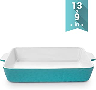 Baking Dishes, Krokori Rectangular Bakeware Set Ceramic Baking Pan Lasagna Pans for Cooking, Kitchen, Cake Dinner, Banquet and Daily Use, 13 x 9 Inches