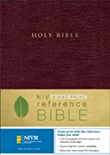 NIV Holy Bible Giant Print Reference Edition, Thumb Indexed, Burgundy Leather-Look
