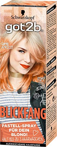 Got2b Blickfang Haarfarbe, PS3 Candy Apricot, 3er Pack (3 x 125 ml)