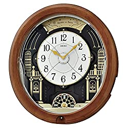 Seiko Midnight Royal Melodies in Motion Clock, Brown
