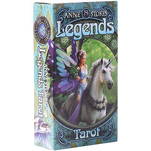 YOYOTECH Legends Tarot Deck of Legends en inglés, francés, alemán y español con la Tarjeta de Juego EGuide Book Einstruction Fate and Fortune Prediction