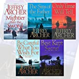 Jeffrey Archer The Clifton Chronicles 5 Books Bundle Collection (Mightier than the Sword, The Sins of the Father, Only Time Will Tell, Be Careful What You Wish For, Best Kept Secret)