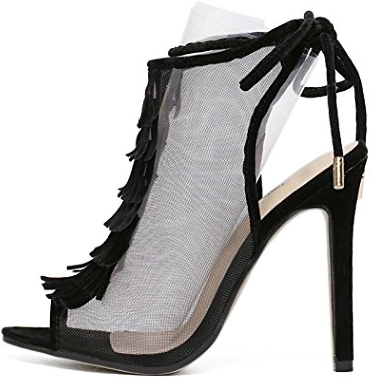 ZHZNVX Die high-heel Frauen Schuhe sexy Licht - satin Sandalette Sandalette Sandalette high-heel Damenschuhe einzelne Schuhe B07CWQB6FD  Niedriger Preis e45701