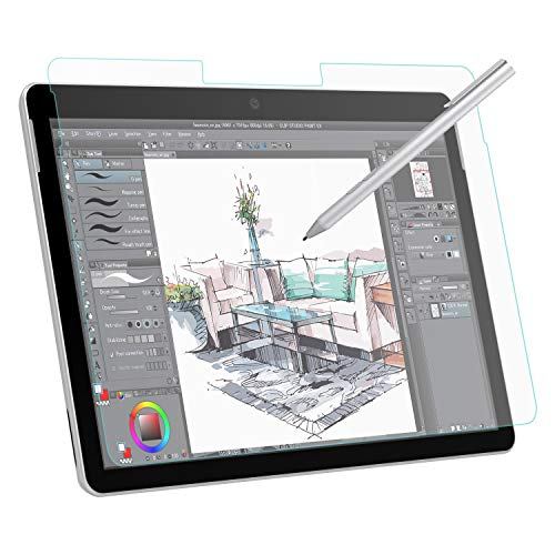 MoKo Entspiegelte Displayschutzfolie Kompatibel mit Surface Go Blasenfreie Matte Schutzfolie Anti Fingerabdruck Folie Ersatz fur Surface Go 10 inch 2018 Tablet Transparent