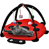 MyfatBOSS Cat Play Mat, Cat Tent Activity Center with Hang Cat Toys Balls Mice, Outdoor Bed Play...