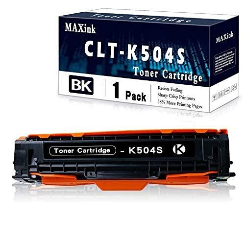 1 Pack Black CLT-K504S Toner Cartridge Replacement for Xpress C1810W C1860FW CLX-4195 CLX-4195FW CLX-4195N CLX-4195FW CLX-4170 CLP 415 CLP 415N CLP 415NW CLP 470 CLP 475 Series Printer