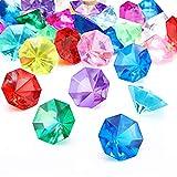 Contenuto del pacchetto: ci sono 30 pezzi di diamanti acrilici multicolori 25 carati con 8 angoli e un fondo appuntito disponibile in 12 colori come il bianco, il rosa e l'azzurro Dimensioni: ogni gioiello gemme di diamanti acrilico misura circa 32 m...