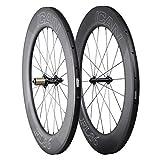 ICAN Carbon Triathlon Wheelset 86mm Clincher Tubeless Ready for Road Bike Standard Hub Sapim Spokes Only 1870g