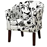 Upholstered Accent Chair Black and White