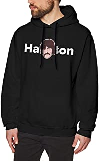 LANDONL Men's George Harrison Hoodies Sweatshirt Black