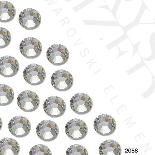 Original Swarovski Strasssteine / Glaskristalle SS06, flache Rückseite (kein Hotfix), 2 mm Durchmesser, durchsichtig, 50 Stück pro Tasche
