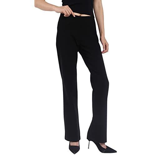 cc6f0bfc92 Foucome Dress Pants for Women-Slim Bootcut Stretch High Waist Trousers with  All Day Comfort