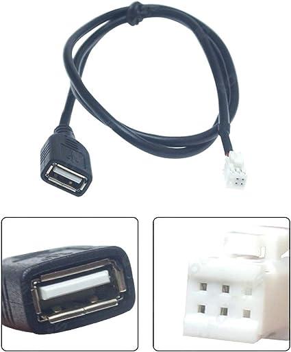 IENPAJNEPQN 7PCS Cable de energía del Coche del Altavoz del ...